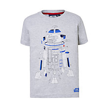 Buy Star Wars Children's R2D2 T-Shirt, Grey Online at johnlewis.com