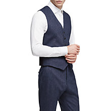 Buy Reiss Reynolds Donegal Waistcoat, Airforce Blue Online at johnlewis.com