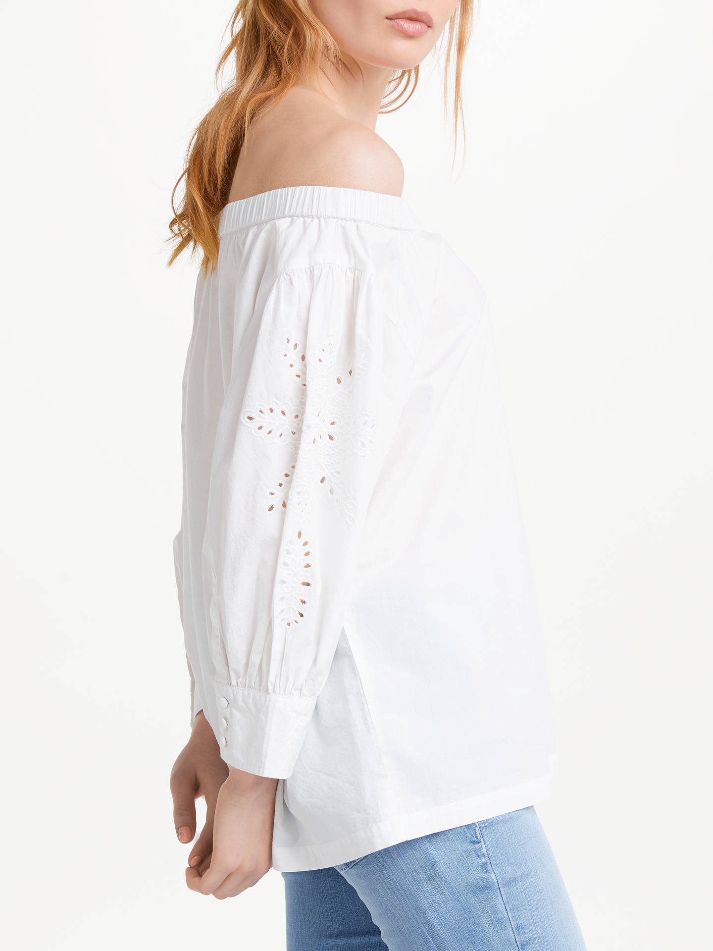 BuyAND/OR Mia Embroidered Top, White, 8 Online at johnlewis.com