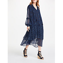 Buy AND/OR Joanie Print Dress, Indigo Online at johnlewis.com