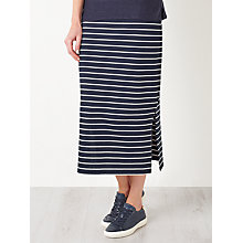 Buy Collection WEEKEND by John Lewis Midi Stripe Jersey Skirt, Navy/White Online at johnlewis.com
