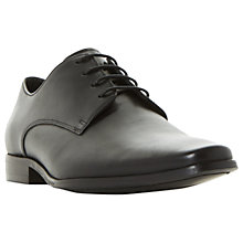 Buy Dune Project Derby Leather Shoes, Black Online at johnlewis.com