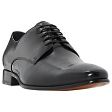 Buy Dune Percival Leather Derby Shoes, Black Online at johnlewis.com