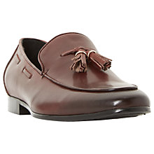 Buy Dune Preacher Double Tassel Loafer Shoes, Burgundy Online at johnlewis.com