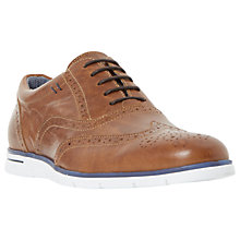 Buy Dune Bransson Wedge Sole Brogues, Tan Online at johnlewis.com