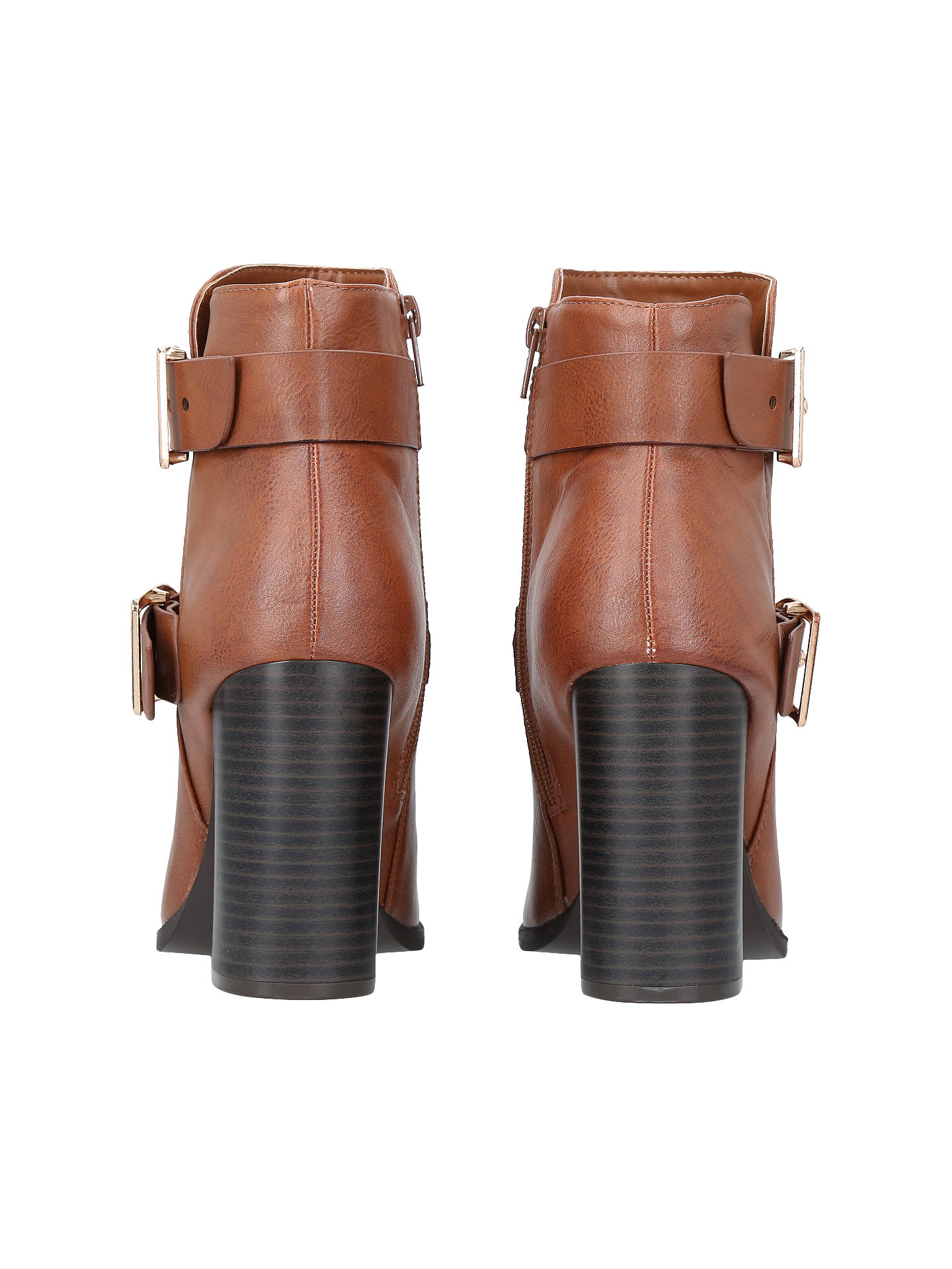 BuyMiss KG Spring Block Heeled Ankle Boots, Tan, 3 Online at johnlewis.com