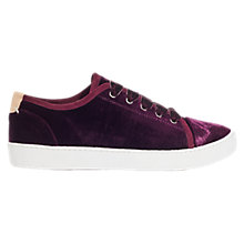 Buy Jigsaw Ayda Velvet Trainers Online at johnlewis.com