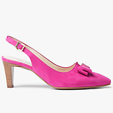 Buy Peter Kaiser Mareike Slingback Court Shoes, Berry Suede Online at johnlewis.com