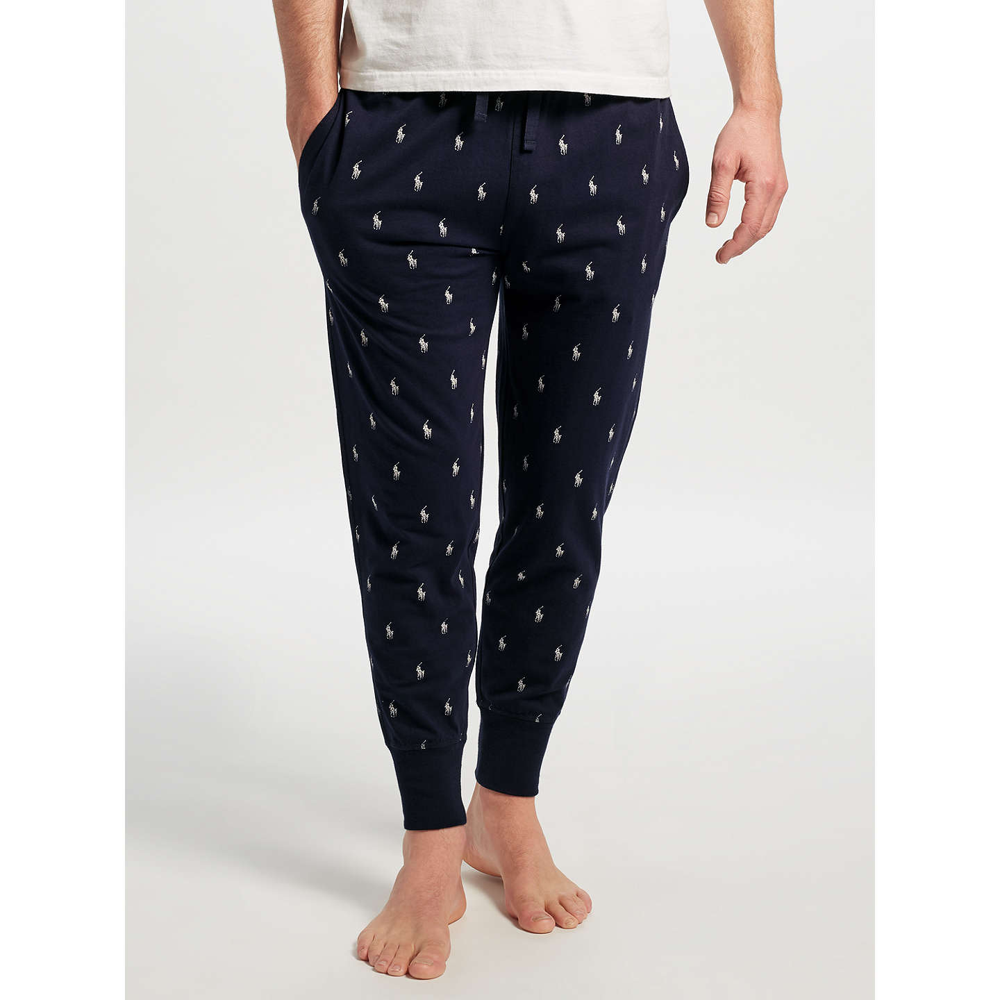 BuyPolo Ralph Lauren All Over Pony Sleep Joggers, Navy, S Online at  johnlewis.