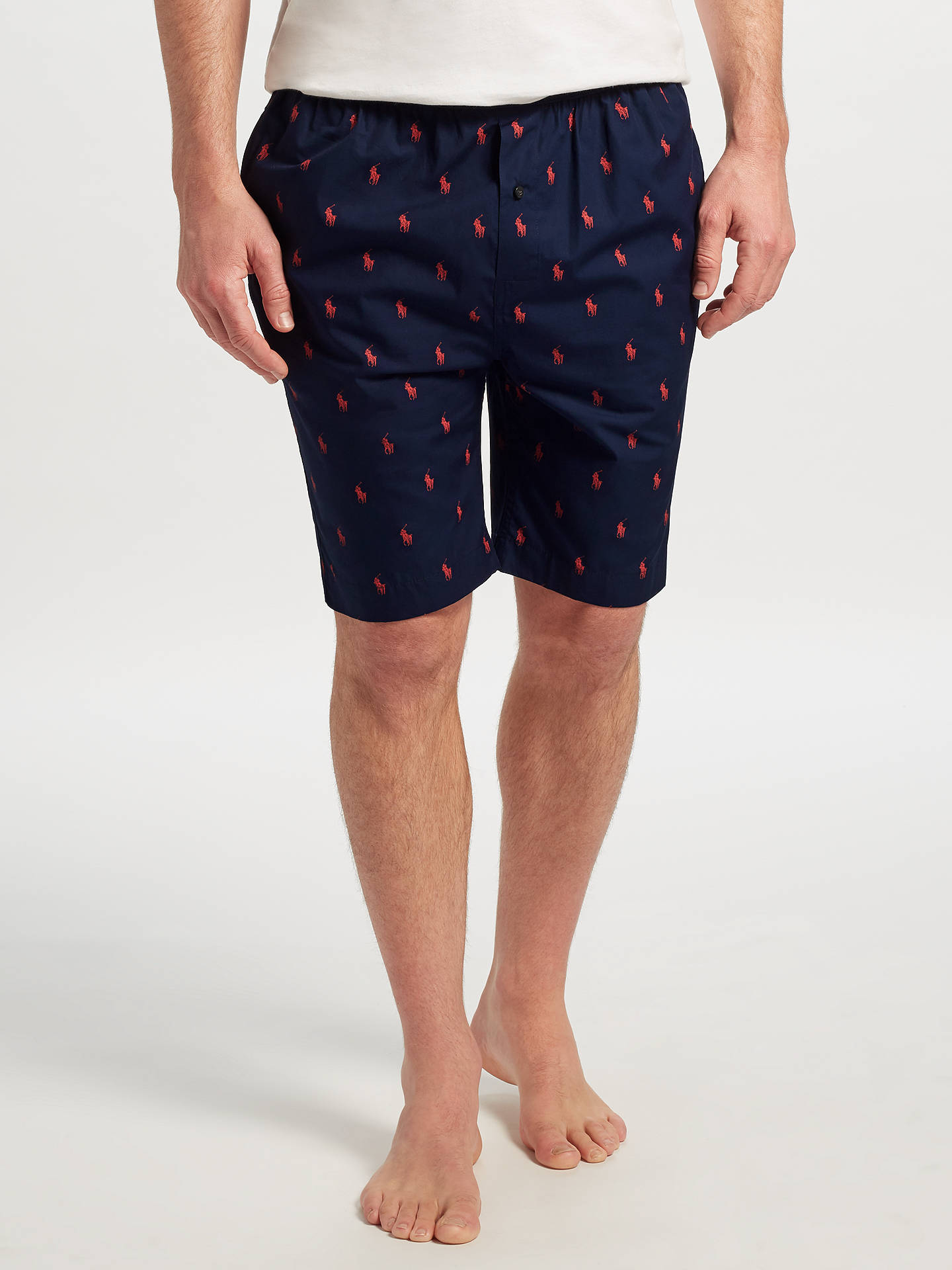 Polo Ralph Lauren Allover Pony Lounge Shorts Navy At John Lewis
