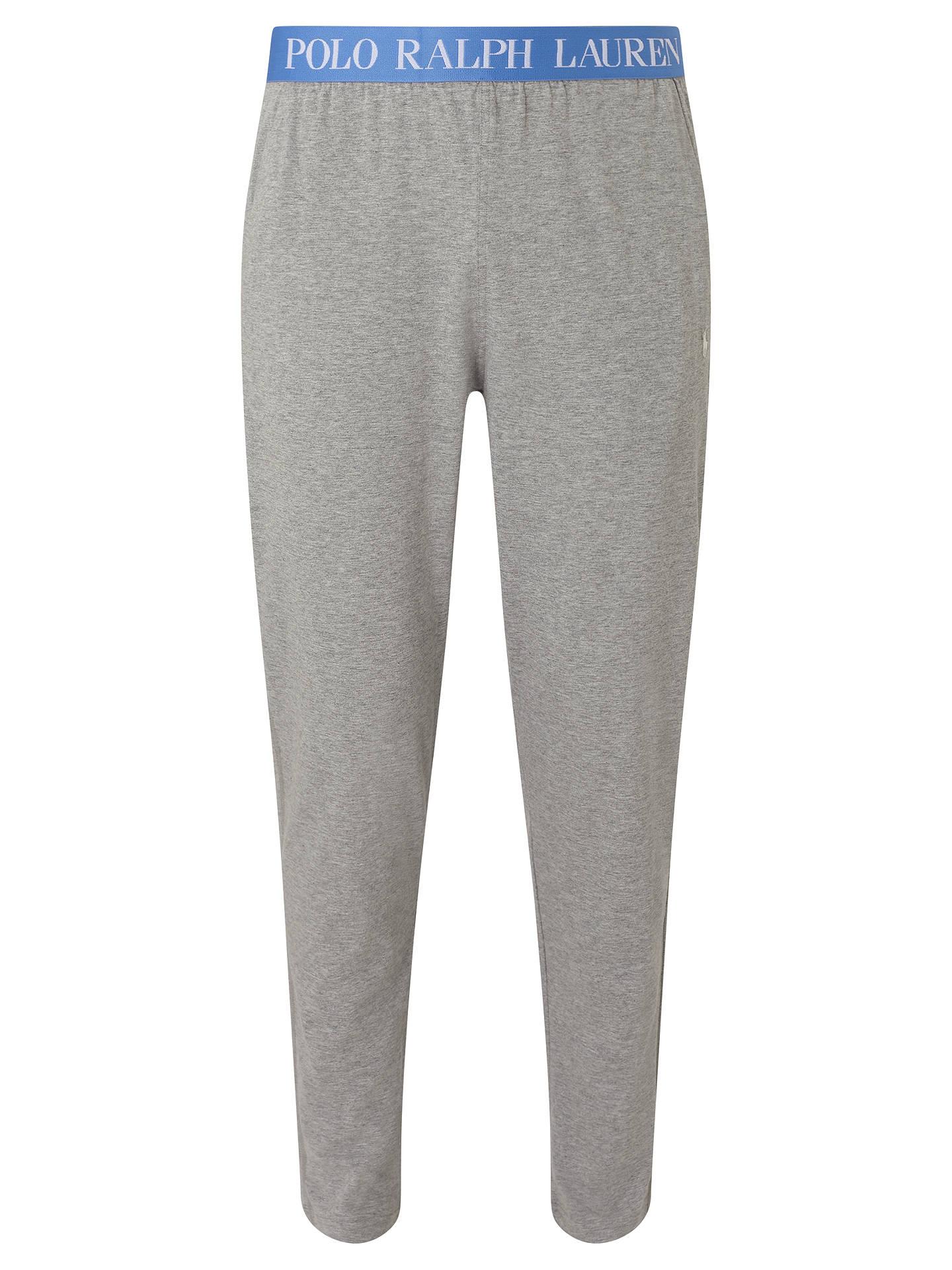 Polo Ralph Lauren Cotton Jersey Lounge Pants Grey At John Lewis