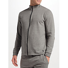 Buy Polo Ralph Lauren Loopback Cotton Full Zip Lounge Top, Grey Online at johnlewis.com