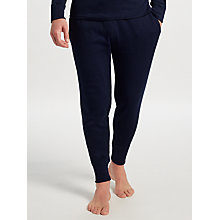 Buy Polo Ralph Lauren Waffle Knit Jogger Lounge Pants, Navy Online at johnlewis.com