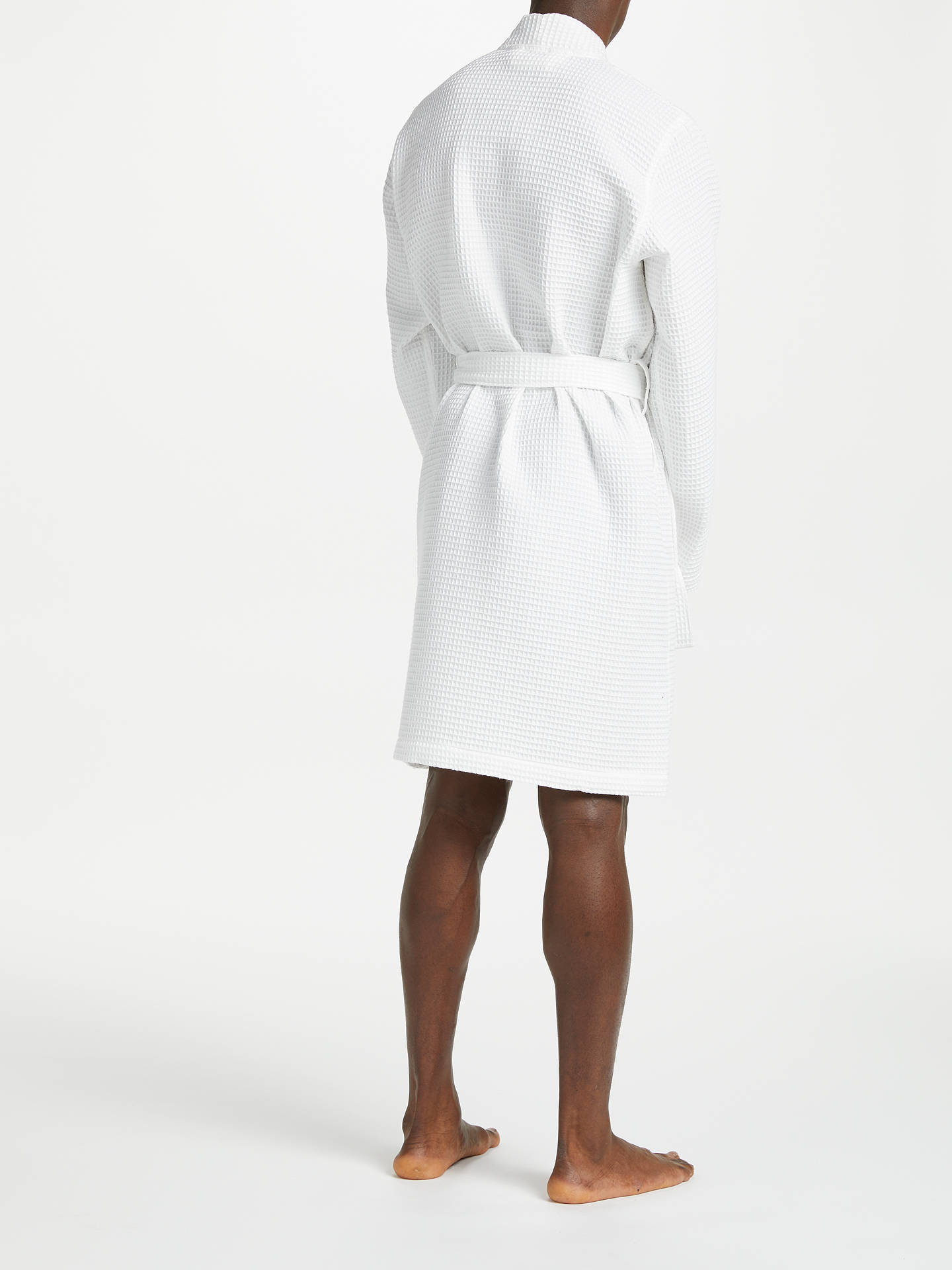 performance sportswear choose authentic price Polo Ralph Lauren Waffle Robe, White at John Lewis & Partners