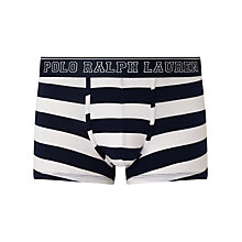 Buy Polo Ralph Lauren Rugby Stripe Trunks, Navy/White Online at johnlewis.com