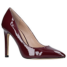 Buy Carvela Kestral Stiletto Heeled Court Shoes, Red Wine Online at johnlewis.com