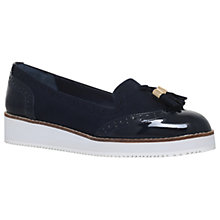 Buy Carvela Mitch Flatform Tassel Loafers, Navy Online at johnlewis.com
