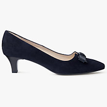 Buy Peter Kaiser Saris Pointed Toe Bow Court Shoes, Navy Suede Online at johnlewis.com