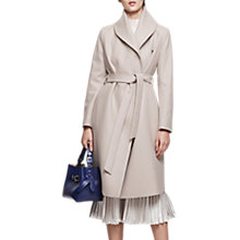 Buy Reiss Deena Wrap Collar Coat, Parchment Online at johnlewis.com