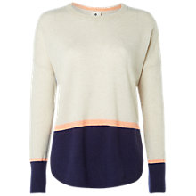 Buy White Stuff Jennie Cashmere Jumper, Oat/Navy Online at johnlewis.com