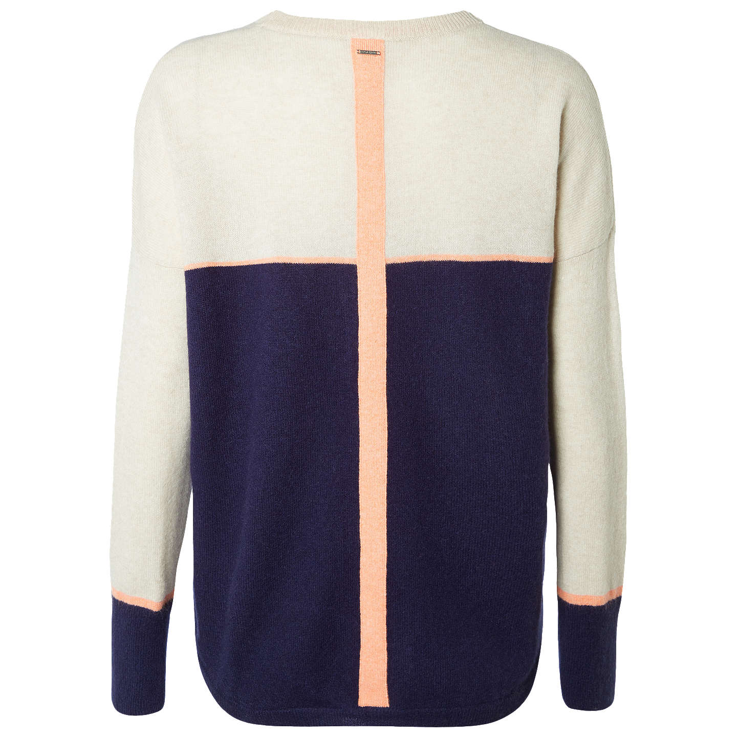 BuyWhite Stuff Jennie Cashmere Jumper, Oat/Navy, 6 Online at johnlewis.com