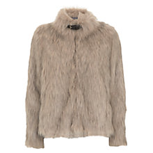 Buy Mint Velvet Chubby Faux Fur Buckle Jacket, Neutral Online at johnlewis.com