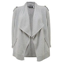 Buy Mint Velvet Military Cardigan, Light Grey Online at johnlewis.com