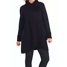 Buy Chesca Astrakhan Collar Coat, Black Online at johnlewis.com