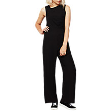 Buy Mint Velvet Ruched Jumpsuit, Black Online at johnlewis.com