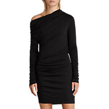 Buy AllSaints Brisa Dress, Black Online at johnlewis.com