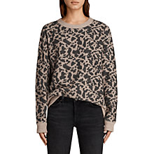 Buy AllSaints Ani Jumper, Camel/Charcoal Online at johnlewis.com