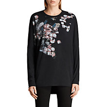 Buy AllSaints Immaculate Wave Sweatshirt, Black Online at johnlewis.com