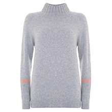 Buy Mint Velvet Funnel Neck Jumper, Grey Online at johnlewis.com