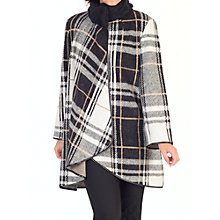 Buy Chesca Camel Check Coat, Monochrome/Camel Online at johnlewis.com