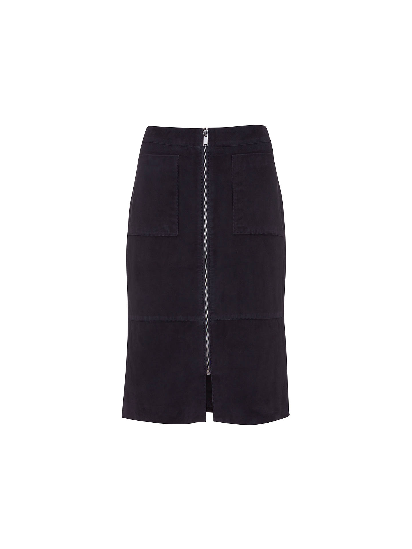 b24fdfe17 Buy Mint Velvet Suede Split Midi Skirt, Dark Blue, 6 Online at johnlewis.