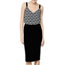 Buy Mint Velvet Split Midi Skirt, Black Online at johnlewis.com