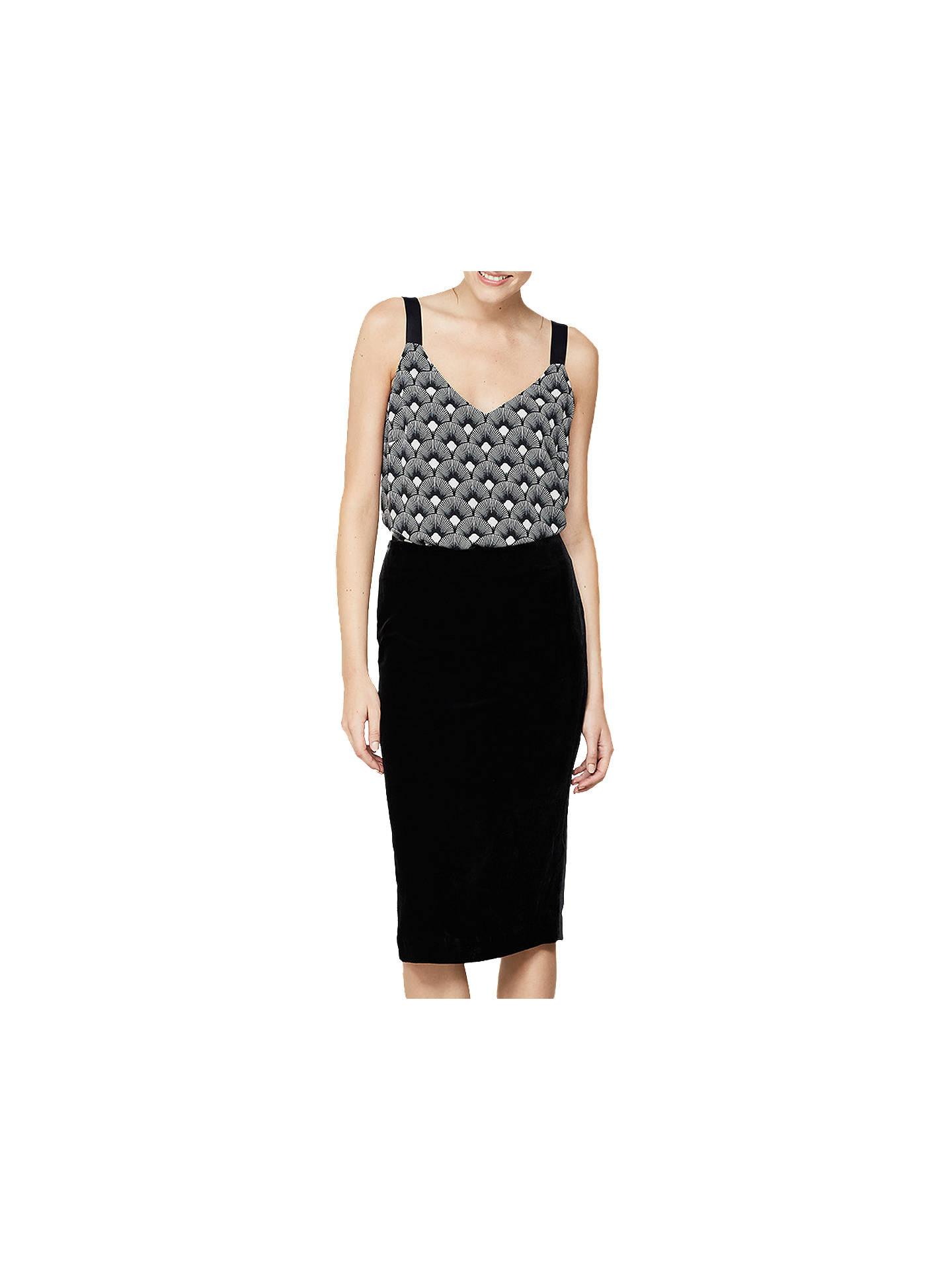 c7cc9962a Buy Mint Velvet Split Midi Skirt, Black, 6 Online at johnlewis.com ...