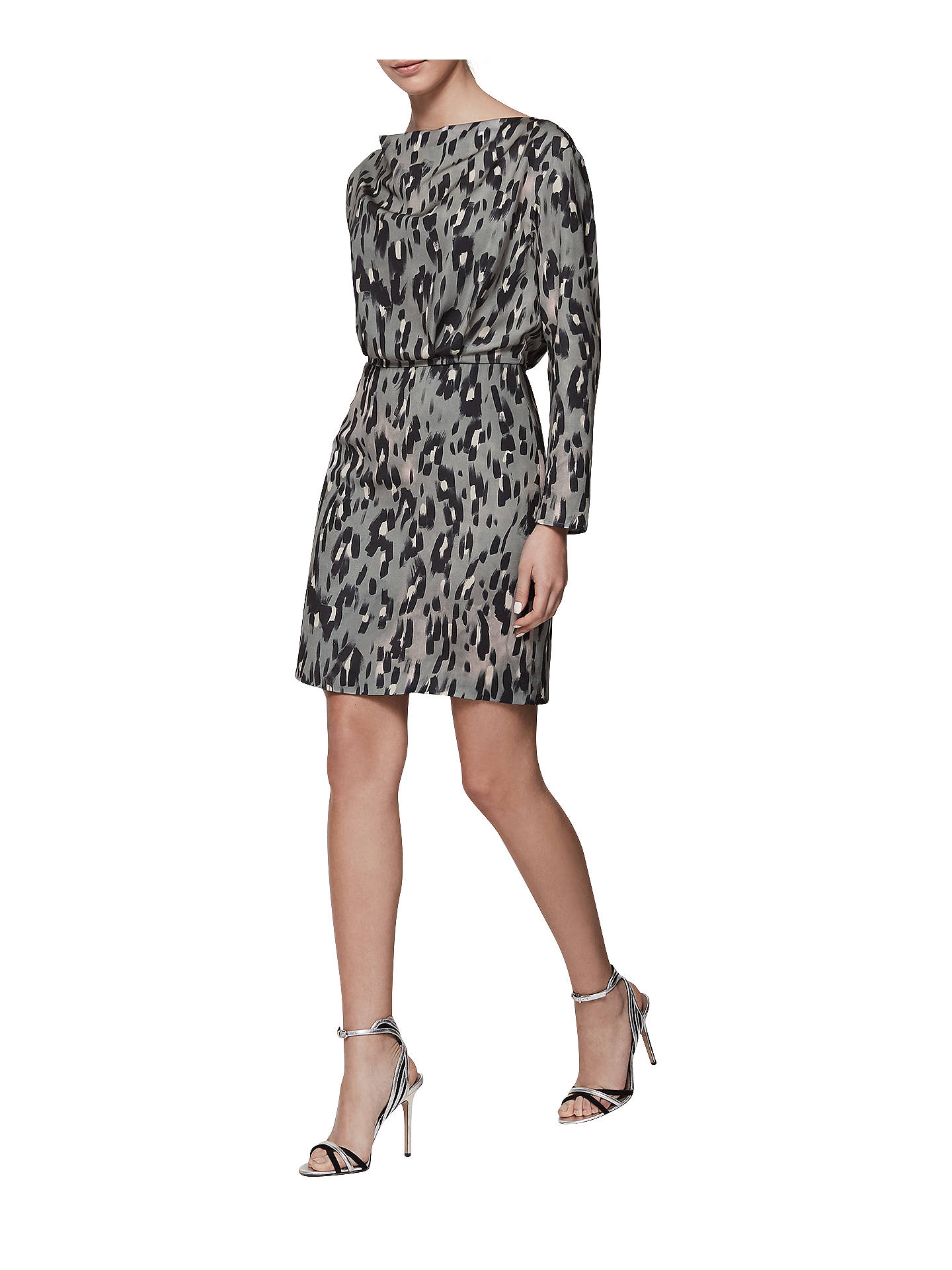 70e0acffe55b ... Buy Reiss Lotta Print Long Sleeve Dress, Multi, 6 Online at  johnlewis.com ...