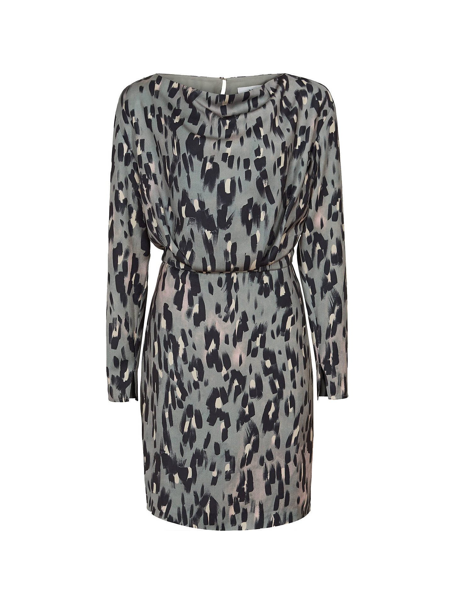 07ed38bf1d45 ... Buy Reiss Lotta Print Long Sleeve Dress, Multi, 6 Online at  johnlewis.com