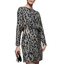 Buy Reiss Lotta Print Long Sleeve Dress, Multi Online at johnlewis.com