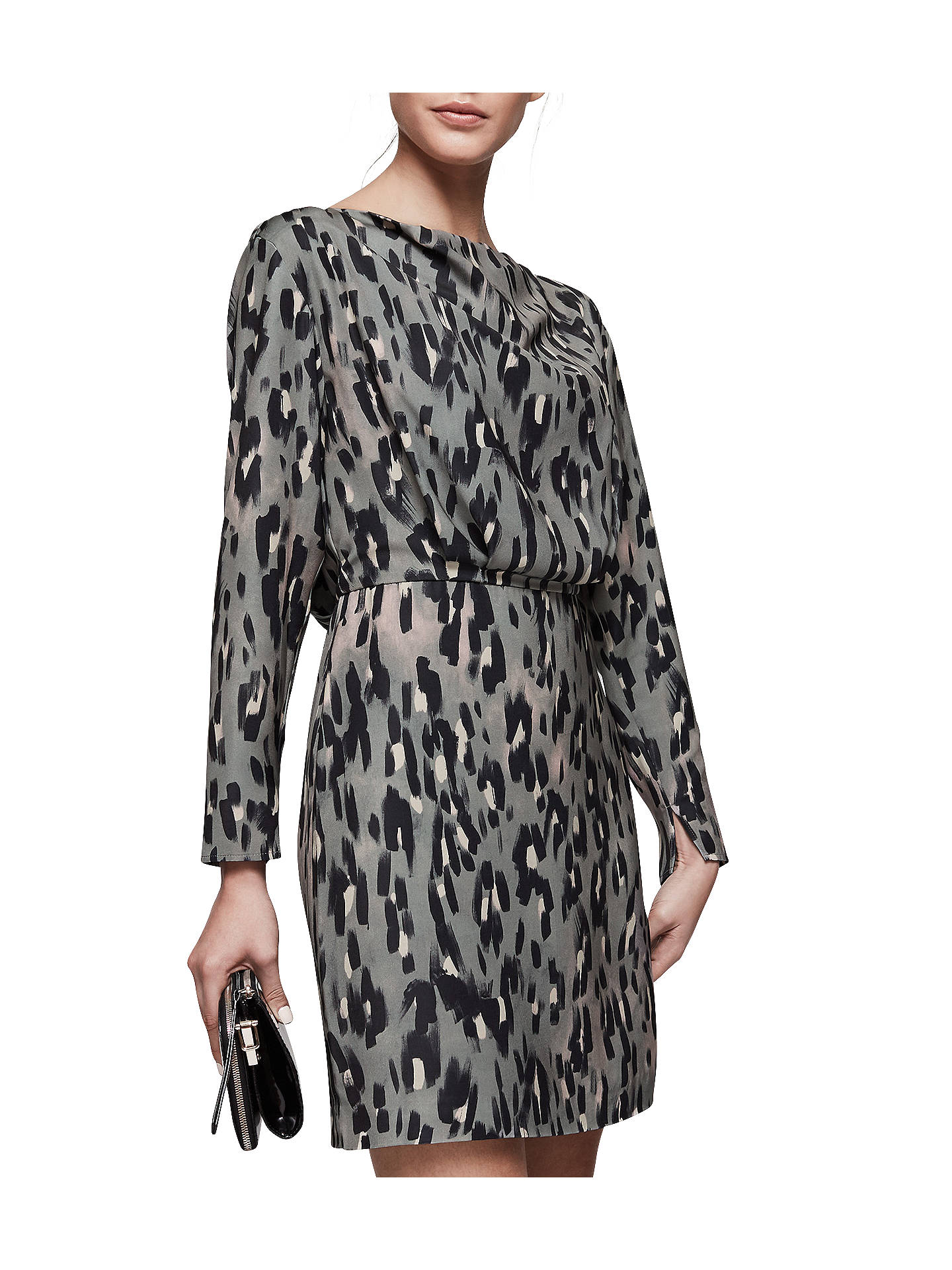 6198b52172b0 Buy Reiss Lotta Print Long Sleeve Dress, Multi, 6 Online at johnlewis.com  ...
