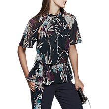 Buy Reiss Nella Printed Blouse, Multi Online at johnlewis.com