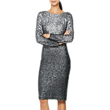 Buy Mint Velvet Ombre Sequin Midi Dress, Silver Online at johnlewis.com