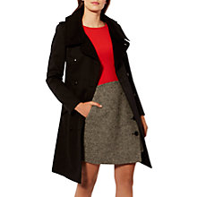 Buy Karen Millen Classic Trench Coat, Black Online at johnlewis.com