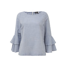 Buy Mint Velvet Stripe Blouse, Blue & Ivy Online at johnlewis.com