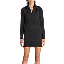Buy AllSaints Aisha Dress, Dark Grey/Marl Online at johnlewis.com