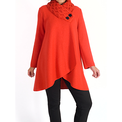 Chesca Arran Collar Coat, Orange