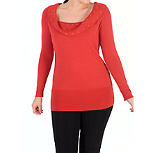 Buy Chesca Studded Collar Jumper, Orange Online at johnlewis.com