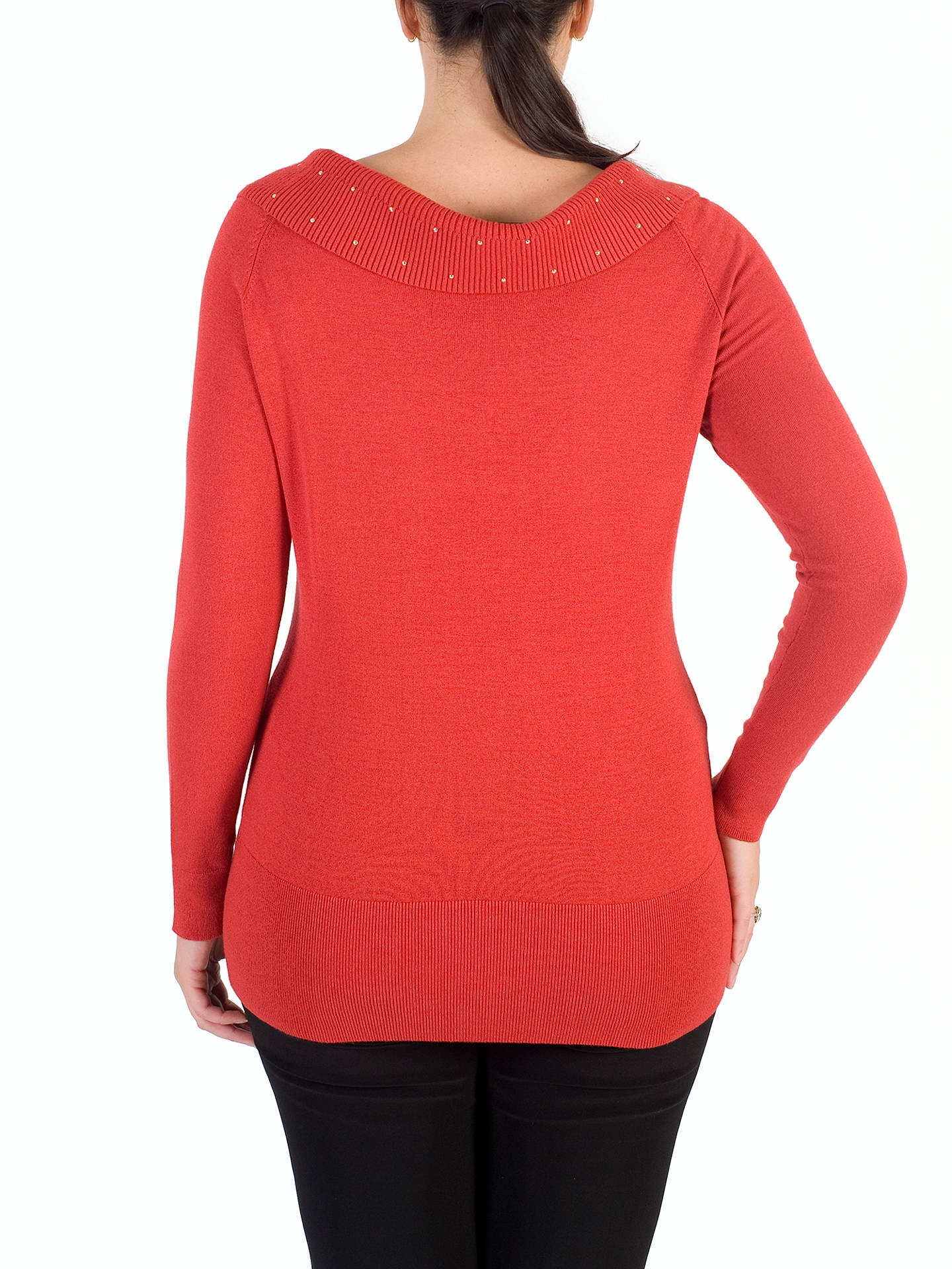 BuyChesca Studded Collar Jumper, Orange, 12-14 Online at johnlewis.com
