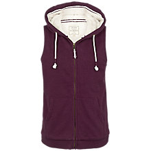 Buy Fat Face Dovedale Hooded Gilet, Aubergine Online at johnlewis.com